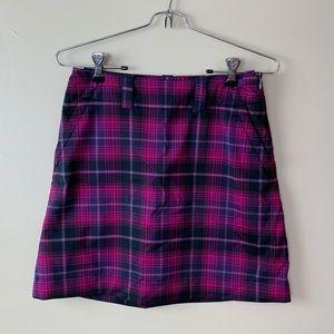 Womens Nike Dri Fit Pink Plaid Tennis Skirt Size 2